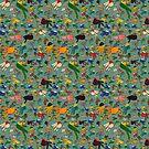 Multicolor Hummingbirds - Turquoise by trelilli