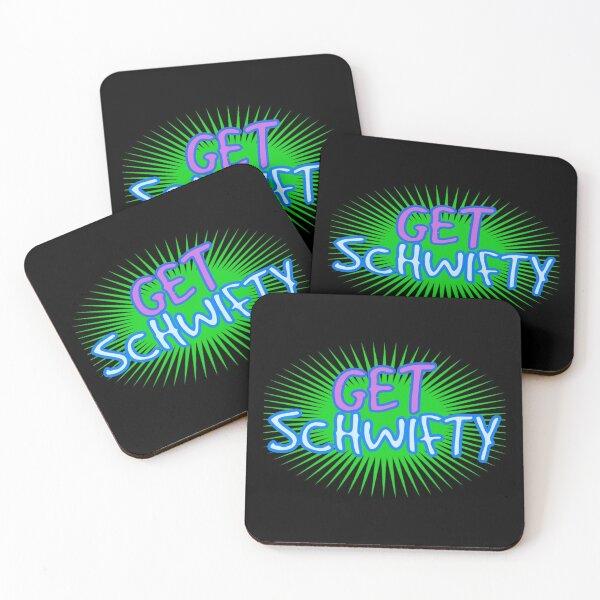 Get Schwifty, wubba lubba dub dub, Rick, Morty,  Coasters (Set of 4)