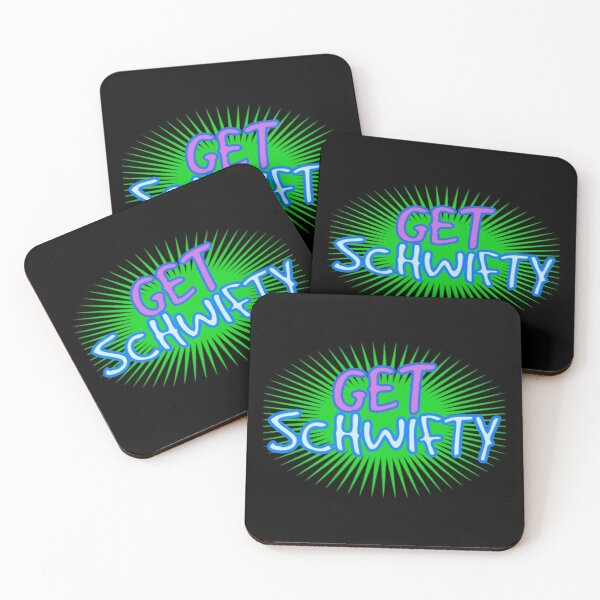 Get Schwifty, wubba lubba dub dub, Rick, Morty,  Coasters (Set of 4)