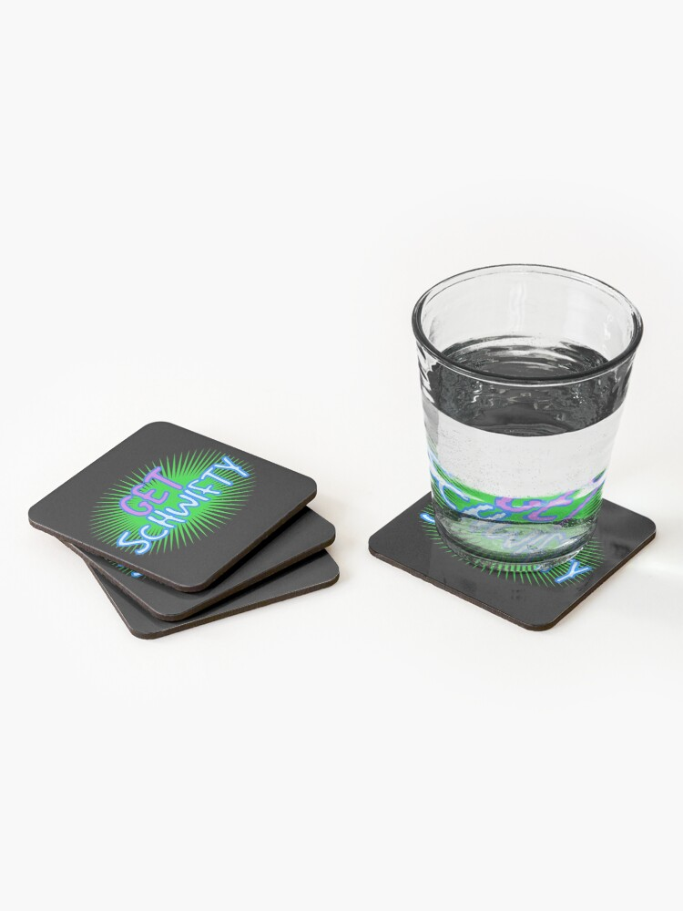 Alternate view of Get Schwifty, wubba lubba dub dub, Rick, Morty,  Coasters (Set of 4)