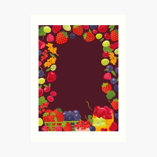Fruits Market Art Print