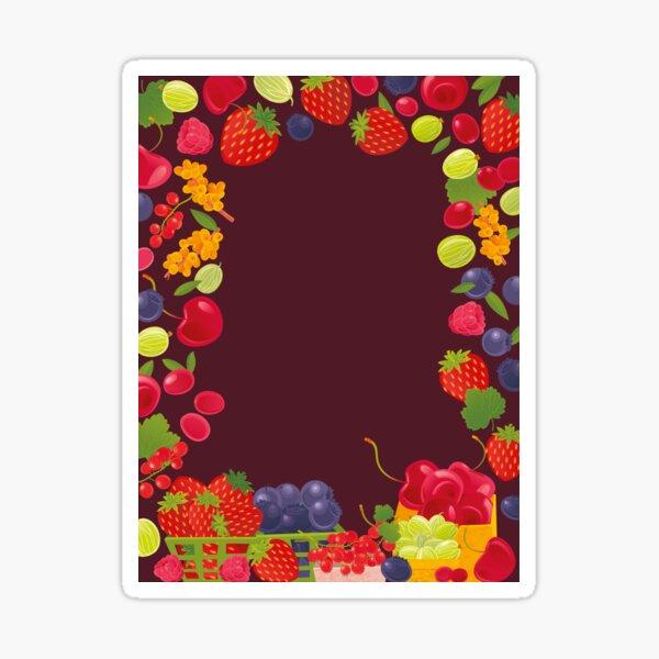 Fruits Market Glossy Sticker