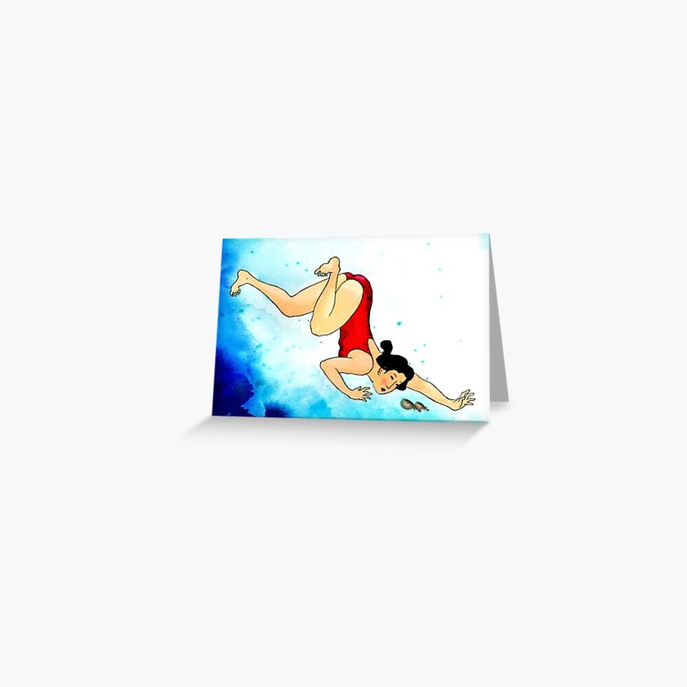 Mrs Hiroshige Diving At Julian Rocks Greeting Card