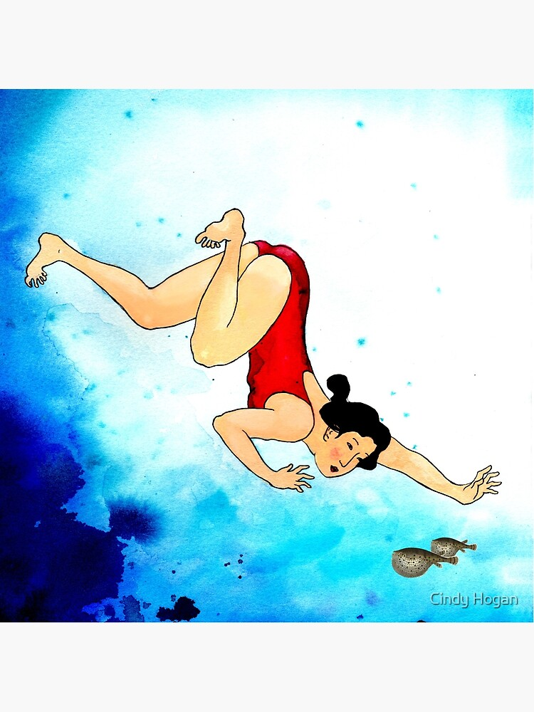 Mrs Hiroshige Diving At Julian Rocks by artforthesoul