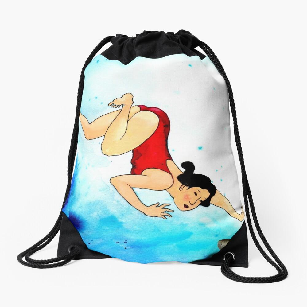 Mrs Hiroshige Diving At Julian Rocks Drawstring Bag