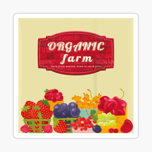 Organic Farm Sticker