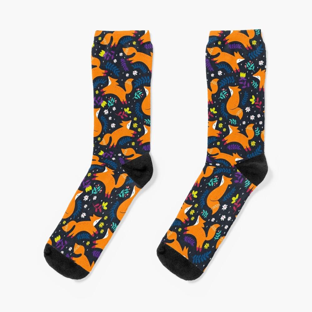 Frolicking Foxes Socks