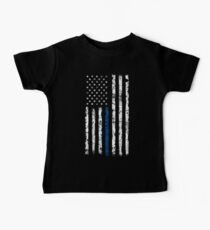 Blue Line (White) V2 Vertical Baby Tee