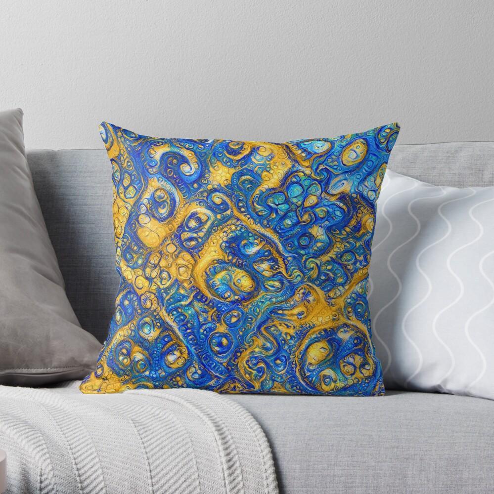Deep Dream abstraction Throw Pillow
