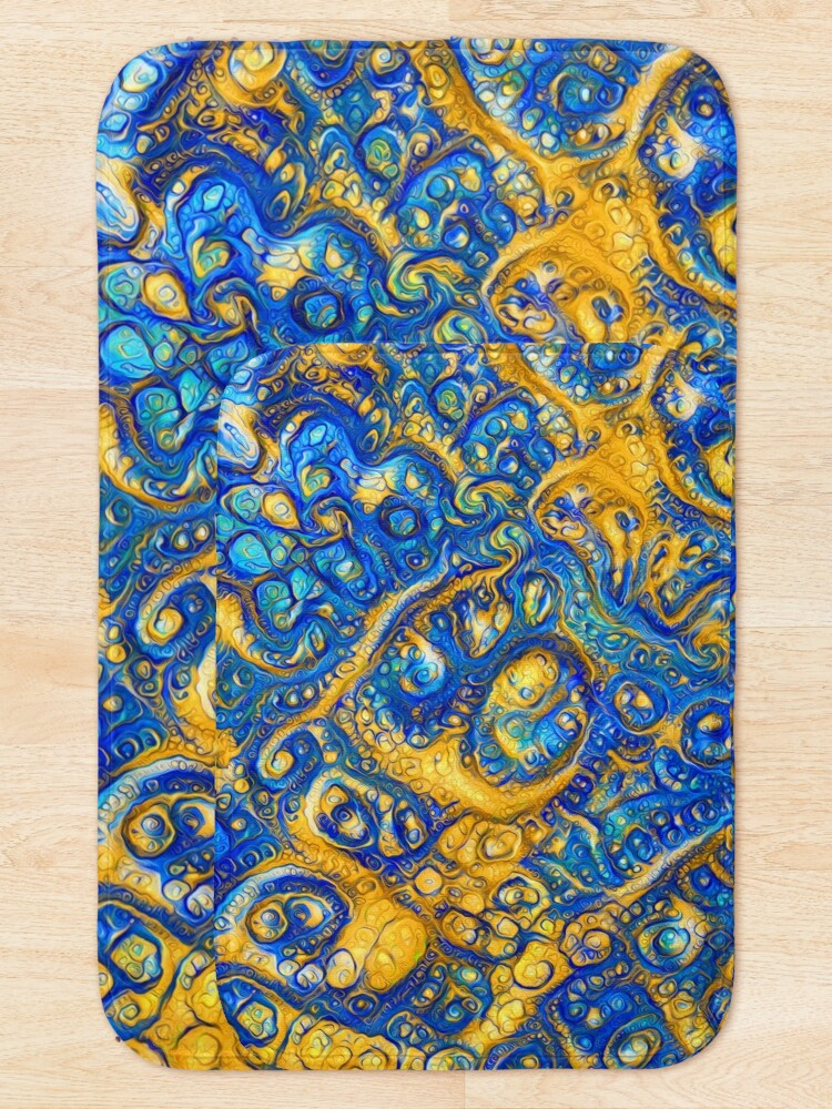 Alternate view of Deep Dream abstraction Bath Mat