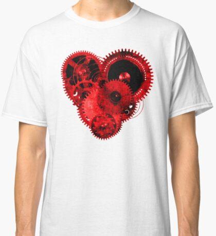 Steampunk Gears Red Heart Classic T-Shirt