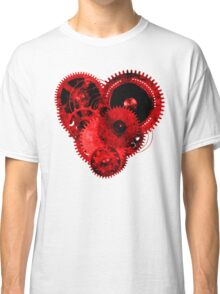 Steampunk Gears Red Heart Classic T-Shirt