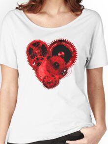 Steampunk Gears Red Heart Women's Relaxed Fit T-Shirt