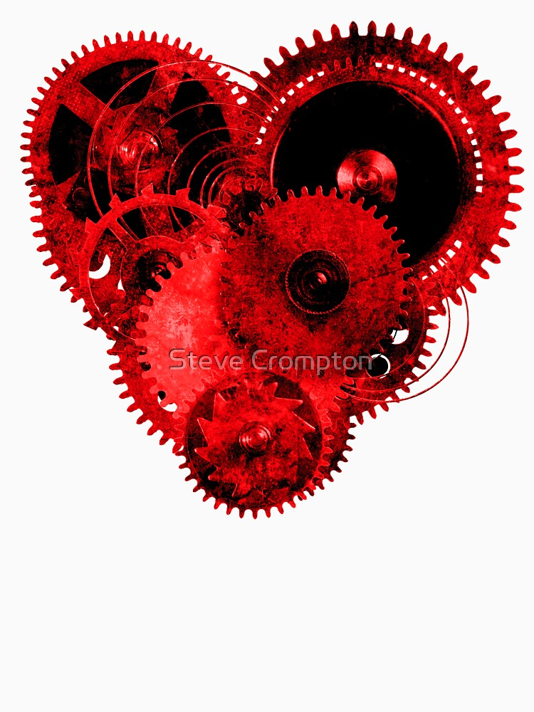 Steampunk Gears Red Heart by SC001