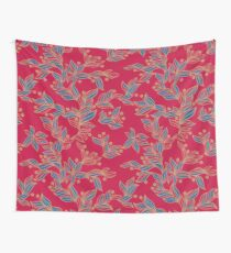 Winter Floral Pattern Wall Tapestry
