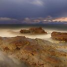 Moon Rise over Long Reef by Sharon Kavanagh