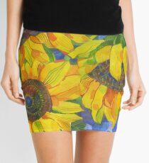 Sunflowers Mini Skirt