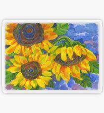 Sunflowers Transparent Sticker