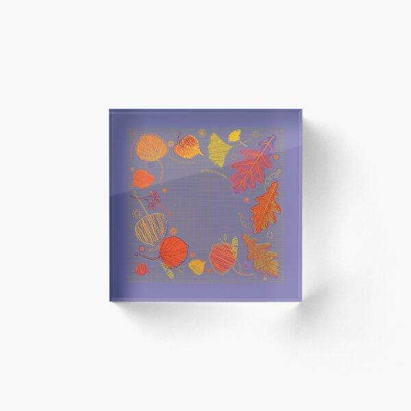 Beautiful Autumn Acrylic Block