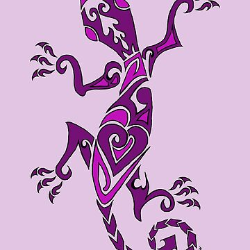 Lizard Tattoo Purple by bluegoddess