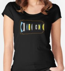 Photographer camera lens construction Women's Fitted Scoop T-Shirt