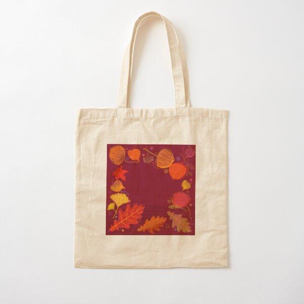 Autumn Leaves Cotton Tote Bag