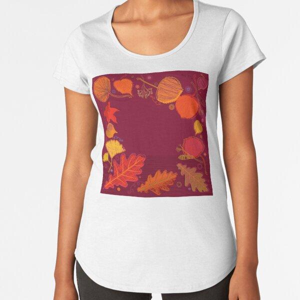 Autumn Leaves Premium Scoop T-Shirt