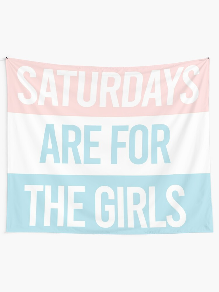 Alternate view of Pastel Saturdays are for the girls  Tapestry