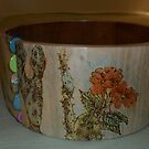 Arizona desert with buttons bowl by lynnieB