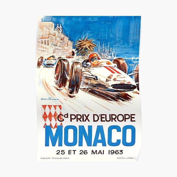 Affiche 1963 du Grand Prix de Monaco Poster