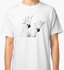 Sulphur Crested Cockatoos Black and White Classic T-Shirt