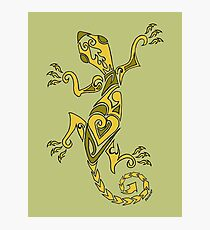 Lizard Tattoo Yellow Photographic Print