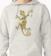 Lizard Tattoo Yellow Pullover Hoodie