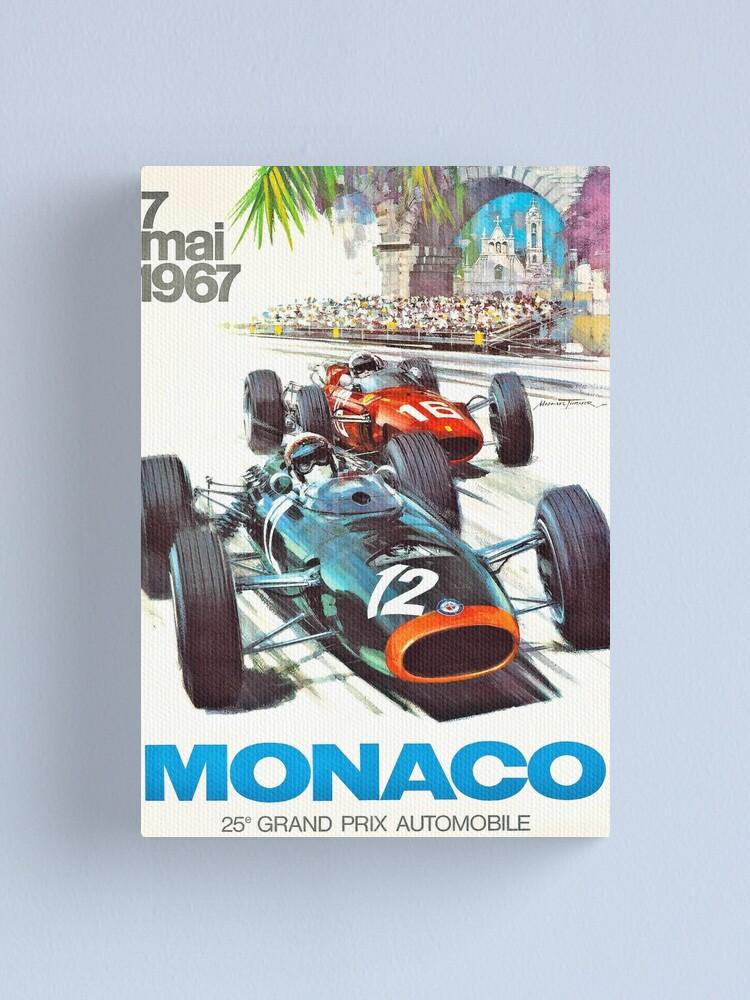 Alternate view of 1967 Monaco Grand Prix Racing Poster Canvas Print