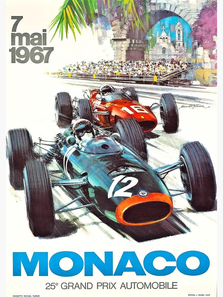 1967 Monaco Grand Prix Racing Poster by retrographics