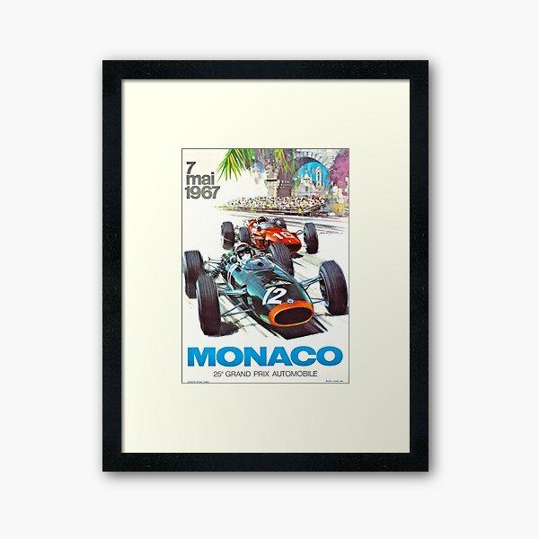 Poster du Monaco Grand Prix 1967 Impression encadrée