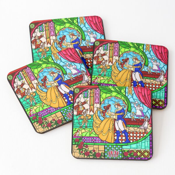 Patterns of the Stained Glass Window Coasters (Set of 4)