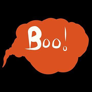 Halloween Boo - Spooky  by jenbewonderland