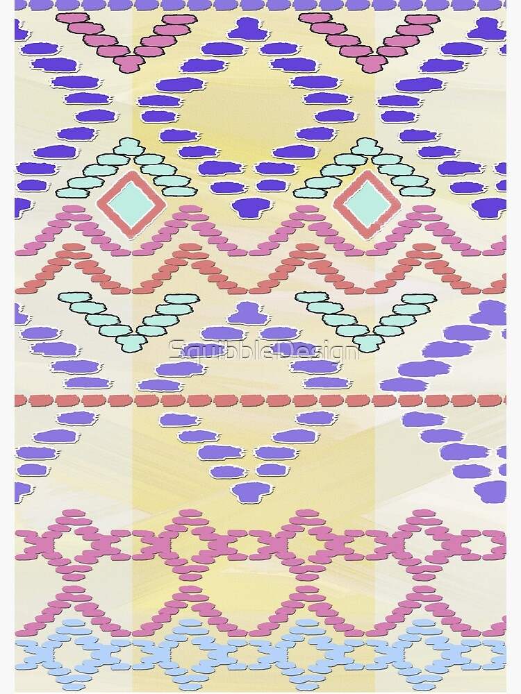 Pastel Tribal Pattern by SquibbleDesign