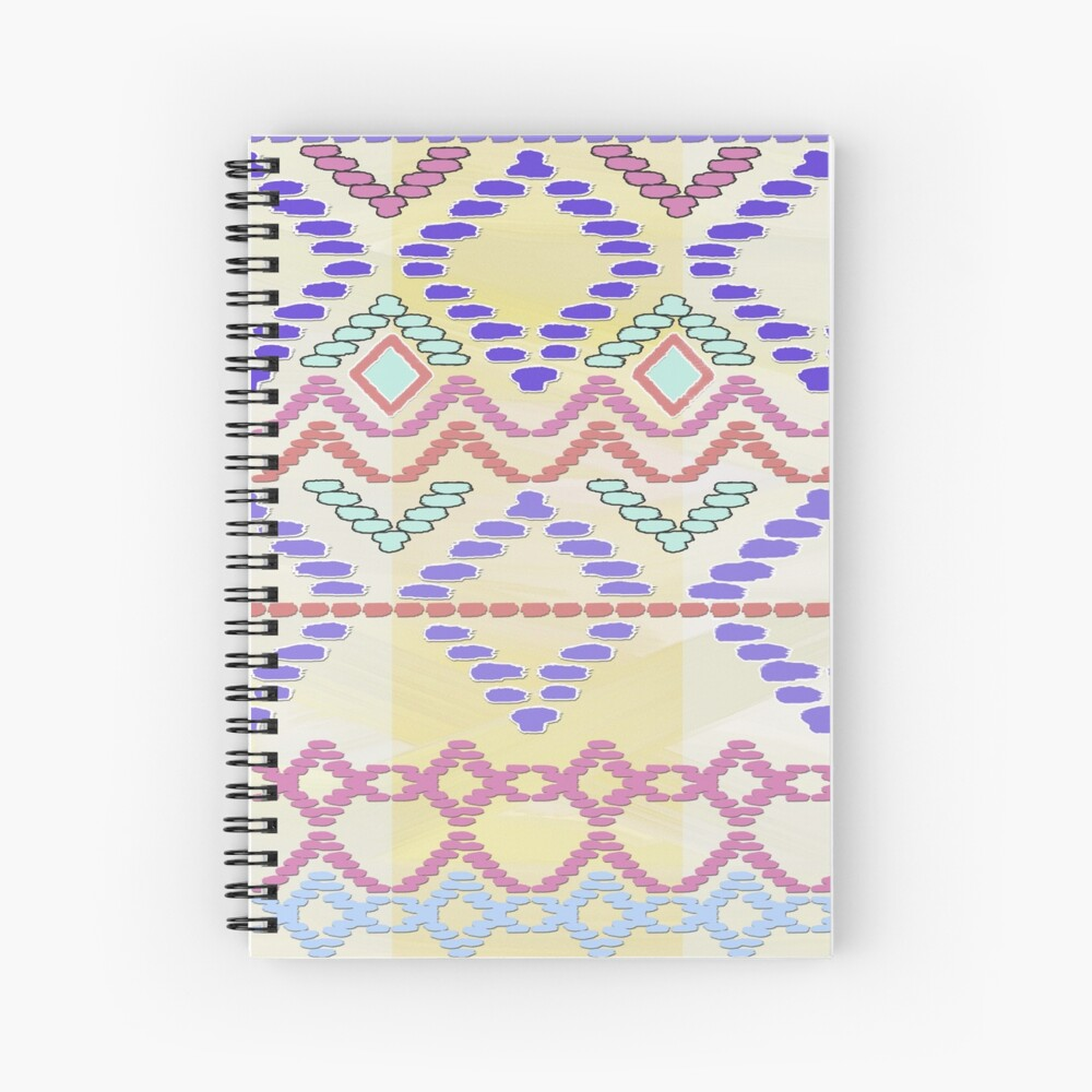 Pastel Tribal Pattern Spiral Notebook