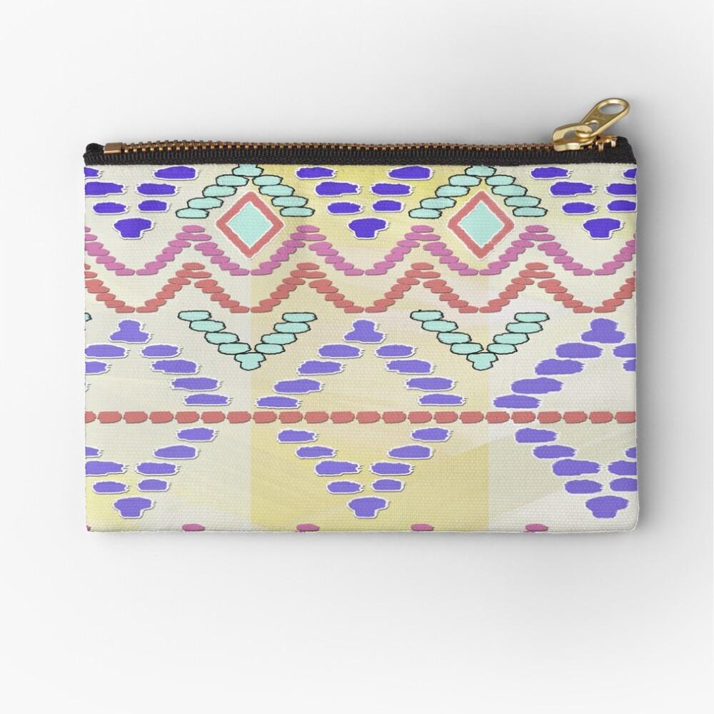 Pastel Tribal Pattern Zipper Pouch