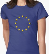 Europe - I Love The European Union ~ EU Flag T-Shirt Drapeau Design Women's Fitted T-Shirt