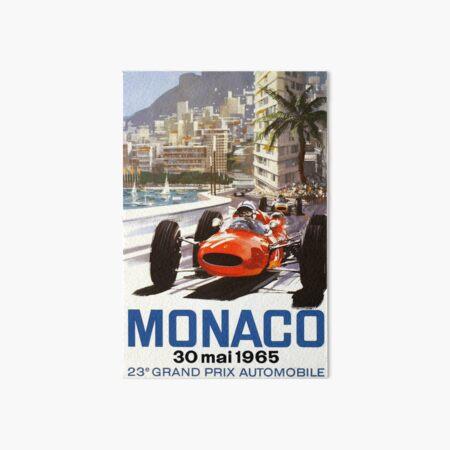 1965 Monaco Grand Prix Racing Poster Art Board Print