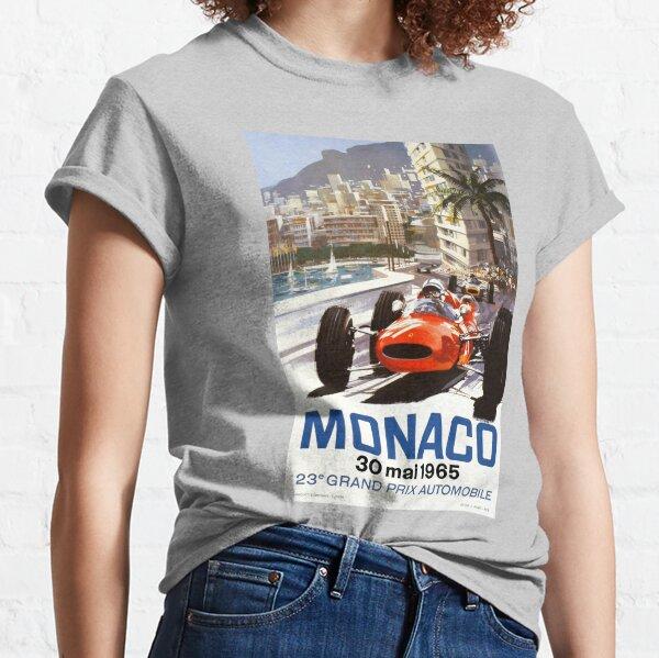 Grand-Prix-Rennplakat von Monaco 1965 Classic T-Shirt