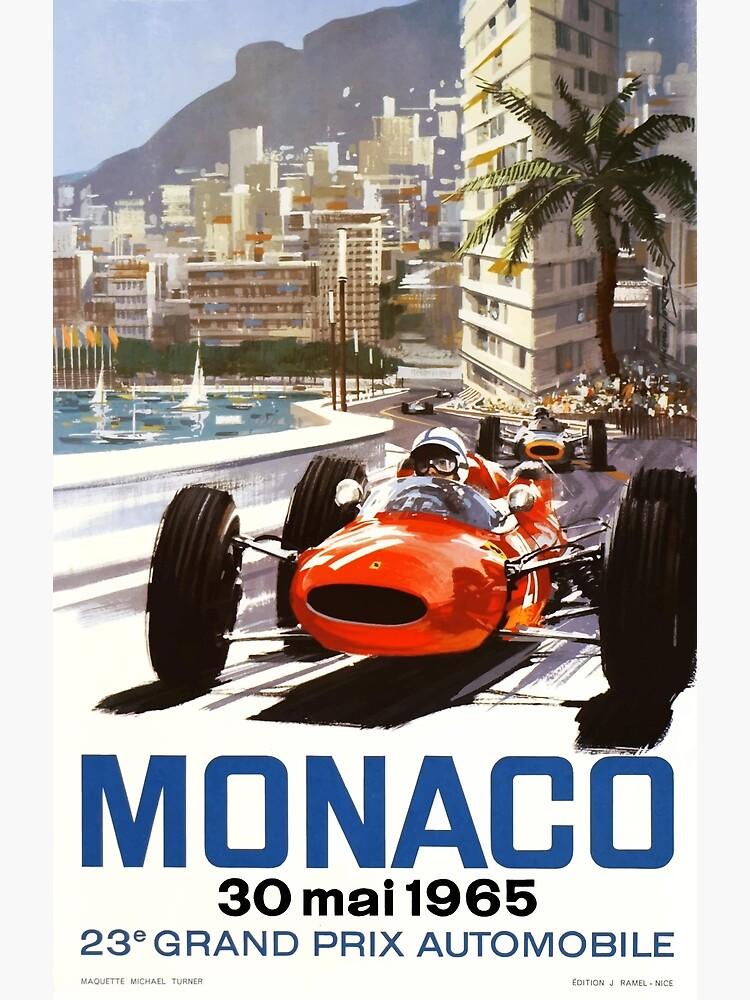 1965 Monaco Grand Prix Racing Poster by retrographics
