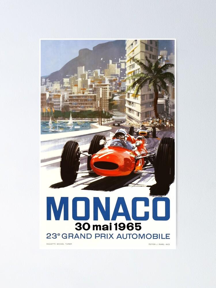 Alternate view of 1965 Monaco Grand Prix Racing Poster Poster