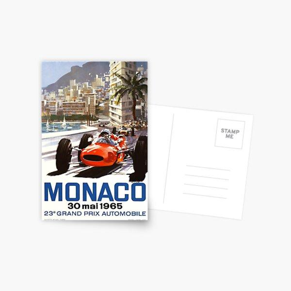 1965 Monaco Grand Prix Racing Poster Postcard