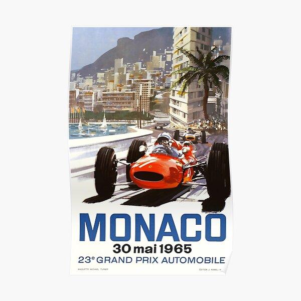 1965 Monaco Grand Prix Racing Poster Póster