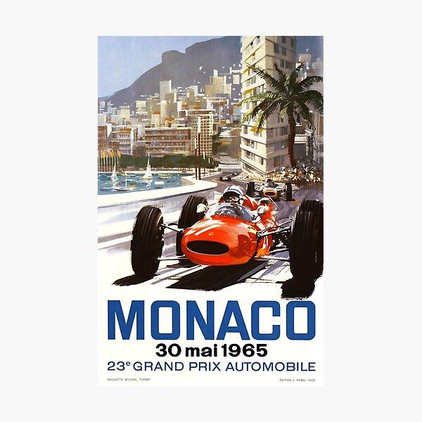 Affiche du Grand Prix de Monaco 1965 Impression photo