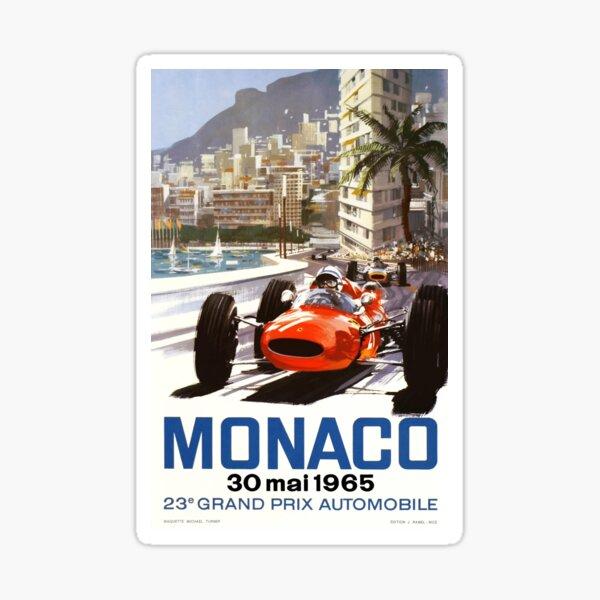 Grand-Prix-Rennplakat von Monaco 1965 Sticker